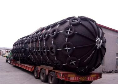 Customized Length Marine Rubber Fender With Chain And Aircraft - Tyre Net
